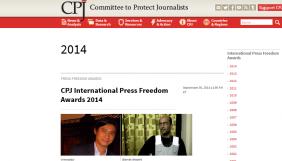 Міжнародну премію за свободу преси отримали журналісти з Бірми, Ірану, Росії та ПАР