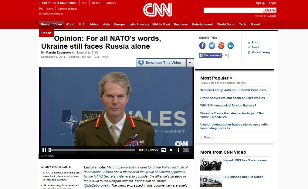Польський експерт у статті для CNN: Після саміту НАТО Україна все ще лишається наодинці проти Росії