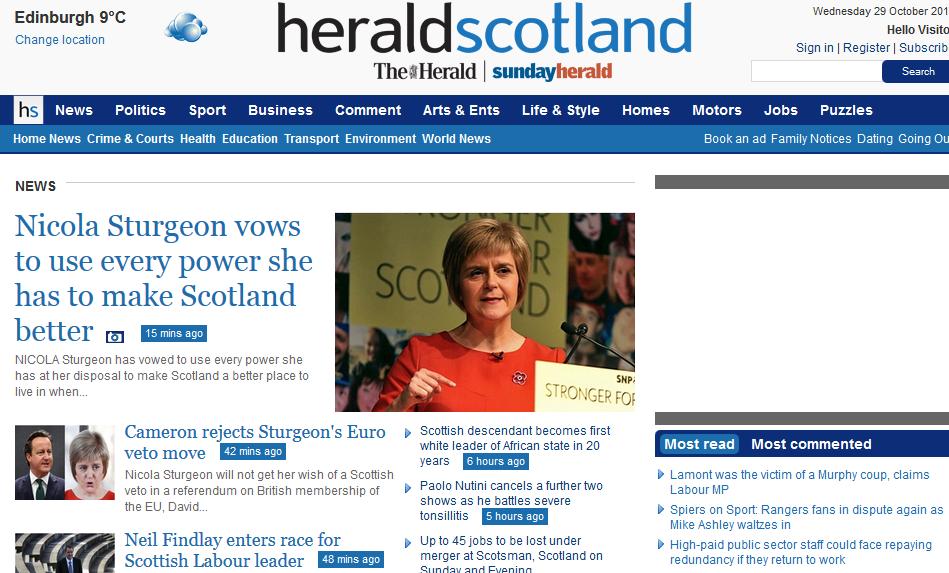 Газети у Глазго отримали вигоду від шотландського референдуму за незалежність