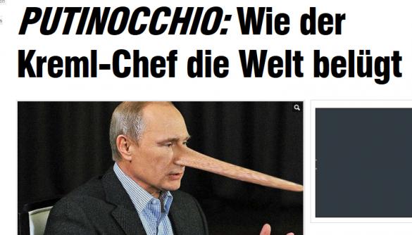 Газета Bild викрила брехню Путіна в інтерв'ю німецькому телеканалу