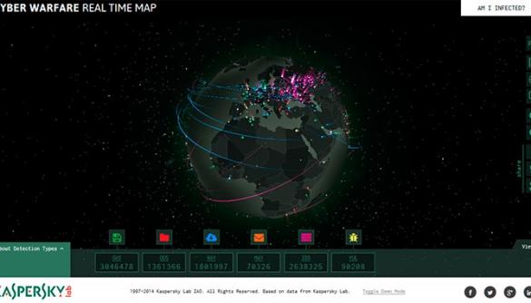 В інтернеті з'явився «глобус кіберзагроз»