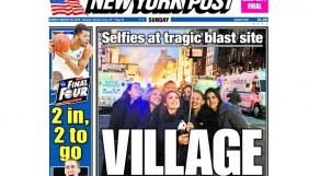 New York Post помістила на обкладинці фото дівчат, які робили селфі на фоні пожежі