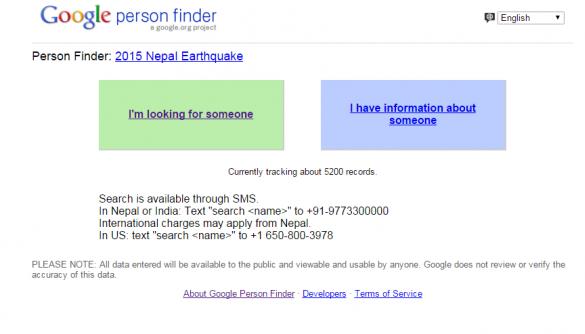 Google відкрив ресурс для пошуку тих, хто вижив після землетрусу у Непалі