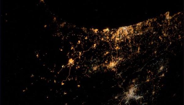 Астронавт опублікував фото конфлікту в Ізраїлі та Газі, зняте із космосу