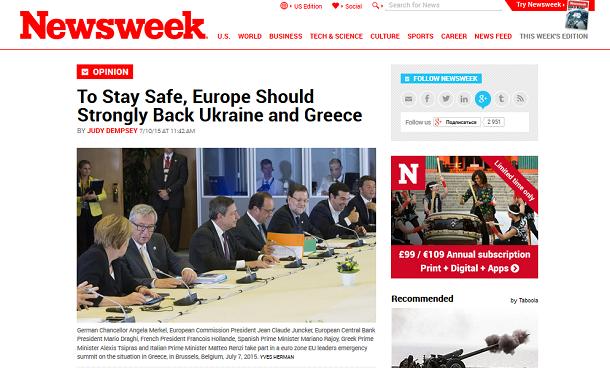 Український безлад не такий безнадійний як криза у Греції? Огляд англомовних ЗМІ