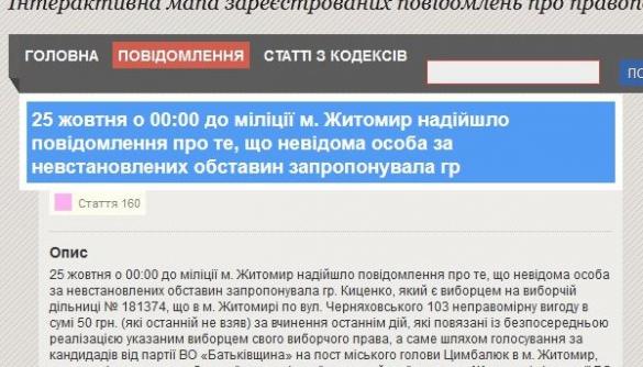 Житомирська «Батьківщина» вимагає спростувати повідомлення з сайту МВС, опубліковане в «Житомир.info»