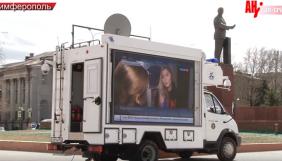 У знеструмленому Криму трансляція російських каналів ведеться з пересувних телевізорів