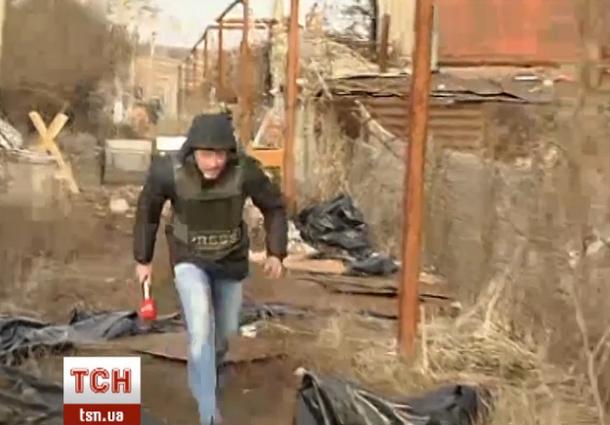 Знімальна група «1+1» потрапила під вогонь сепаратистів у Широкиному