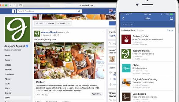 Facebook запускає інструмент для публікації вакансій