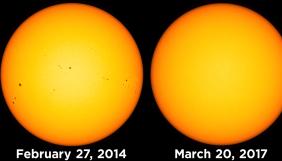 NASA опублікувало знімок Сонця без плям