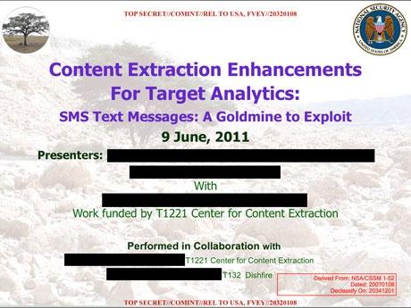 Агентство національної безпеки США щоденно перехоплювало по 200 мільйонів SMS-повідомлень