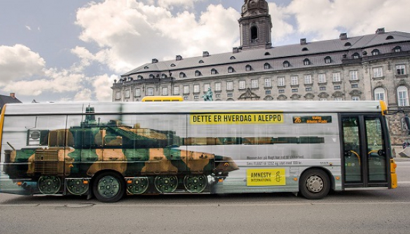 Amnesty International показала жителям Копенгагену, яким є життя в Алеппо