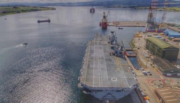 Чоловік випадково посадив дрон на найбільший корабель британського флоту