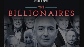 Список найбагатших людей Forbes очолив Безос. Дуров на 1394-му місці
