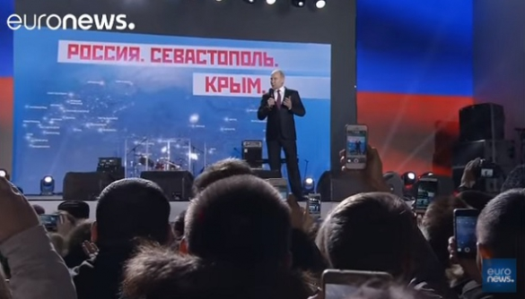 Euronews знову не згадав про анексію в сюжеті про візит Путіна до Криму