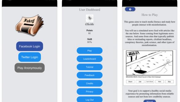 Інтерактивна боротьба з фейками: як працює додаток Fakey