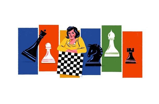 Google присвятила дудл українській шахістці Людмилі Руденко