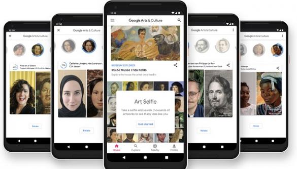 В Україні запрацював додаток Google, який за селфі знаходить двійника в живописі