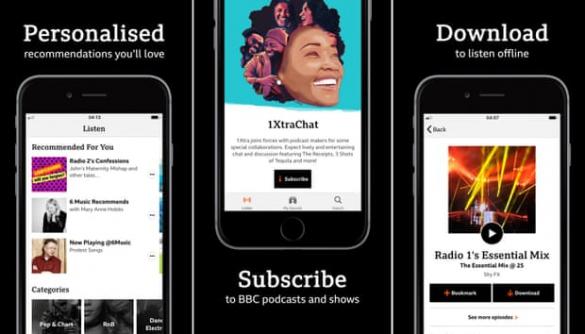 BBC створила новий додаток, що об'єднав різні аудіопродукти корпорації
