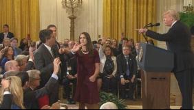 Журналіста CNN позбавили акредитації в Білому домі після перепалки з Трампом