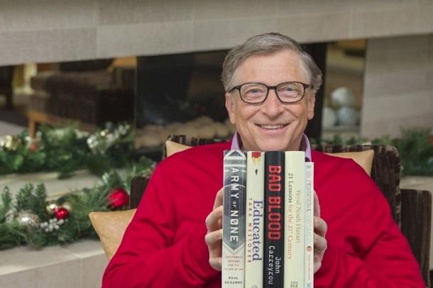 Білл Гейтс розповів про п'ять улюблених книжок року