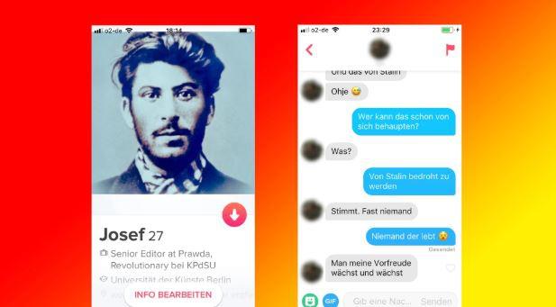 Tinder-експеримент: Німецький журналіст видав себе за молодого Сталіна в додатку для знайомств