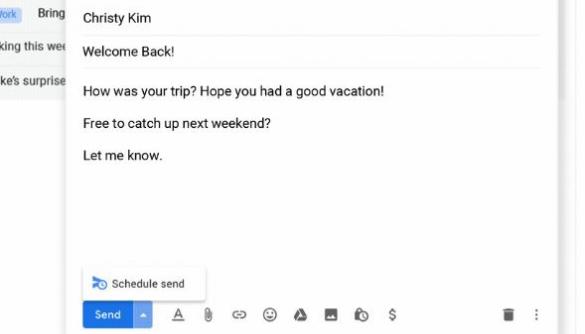 Як запланувати час відправлення листа у Gmail: нова функція