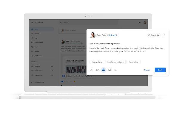 Замість закритої Google+ компаніям пропонують користуватись Currents