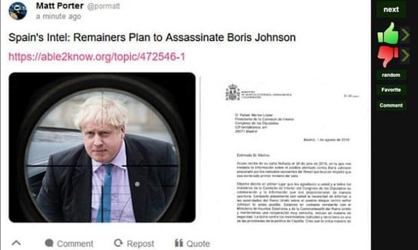 Російські тролі підроблювали твіти політиків і лякали замахом на Бориса Джонсона — дослідження