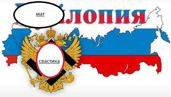 Росія вимагає від «Фейсбука» видалити картинку зі свастикою на гербі РФ