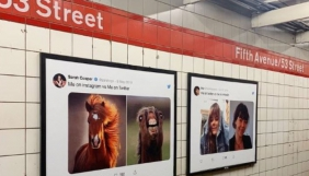 «Твіттер» роздрукувала велетенські твіти і розвісила їх в американському метро