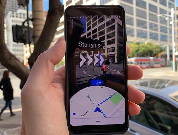 «Гугл» запускає маршрути прогулянок з доповненою реальністю