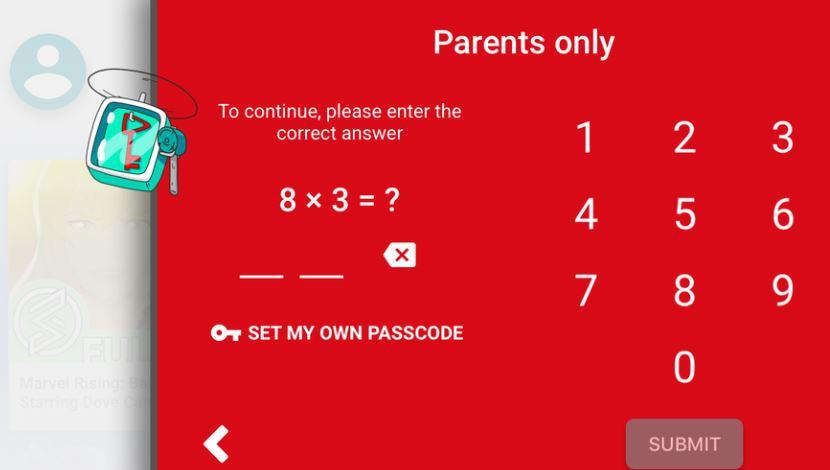 Захист налаштувань у YouTube Kids можна обійти, знаючи таблицю множення