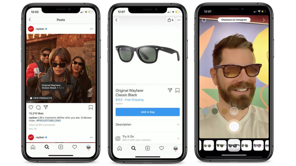 Instagram тестує функцію доповненої реальності під час покупок