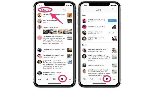 Instagram видалить вкладку «Підписки», яка дозволяла стежити за діями інших користувачів