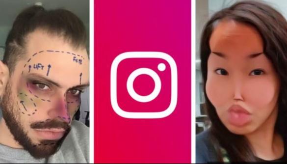 Instagram заблокувала маски, які імітували пластичні операції