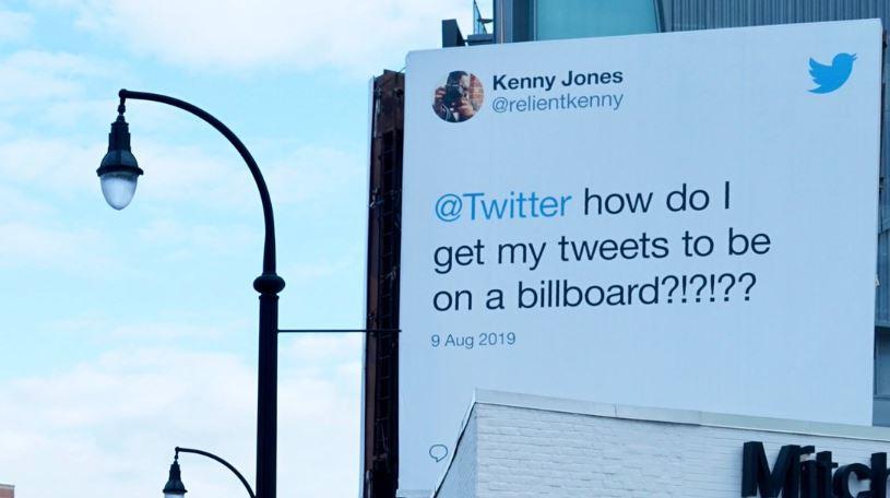 Twitter виконала бажання користувачів, які хотіли побачити свої пости на біл-бордах