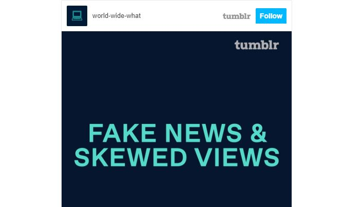 Блог-платформа Tumblr запустила кампанію з медіаграмотності