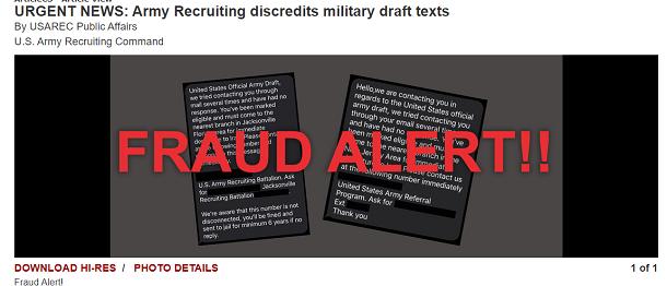 Американці отримують фейкові повідомлення про «термінову відправку» на службу в Іран