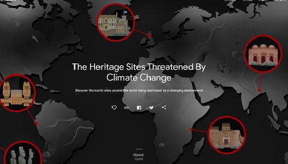 Google створила інтерактивну онлайн-виставку впливу клімату на історичні об'єкти