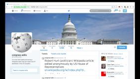 Американець створив програму для відстежування анононімних виправлень «Вікіпедії», зроблених чиновниками