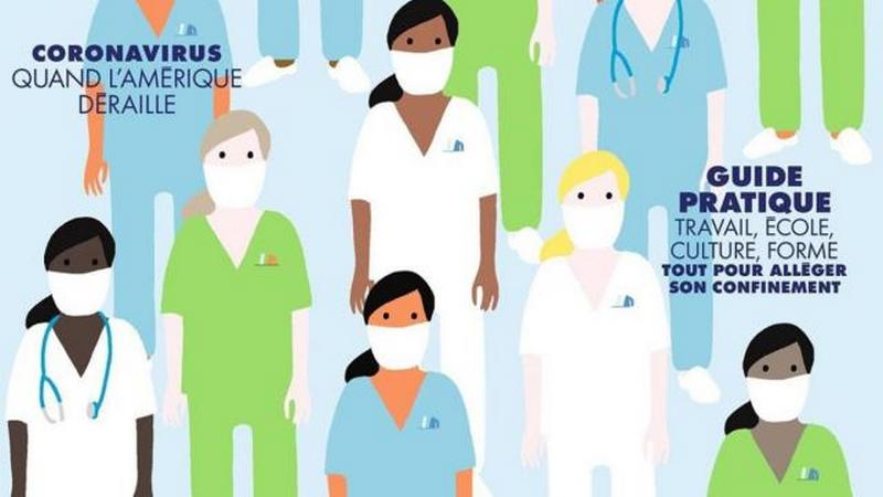 Французський ELLE присвятив обкладинку медикам, які борються з коронавірусом (ФОТО)