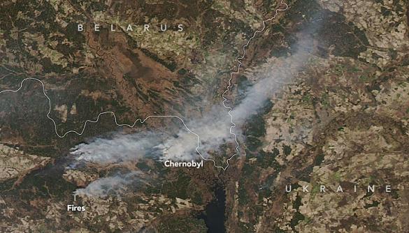 Пожежі в Чорнобильській зоні: з'явилися фото з супутників NASA