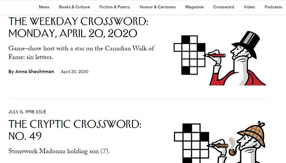 Через карантин The New Yorker запускає функцію спільного розв'язання онлайн-кросвордів