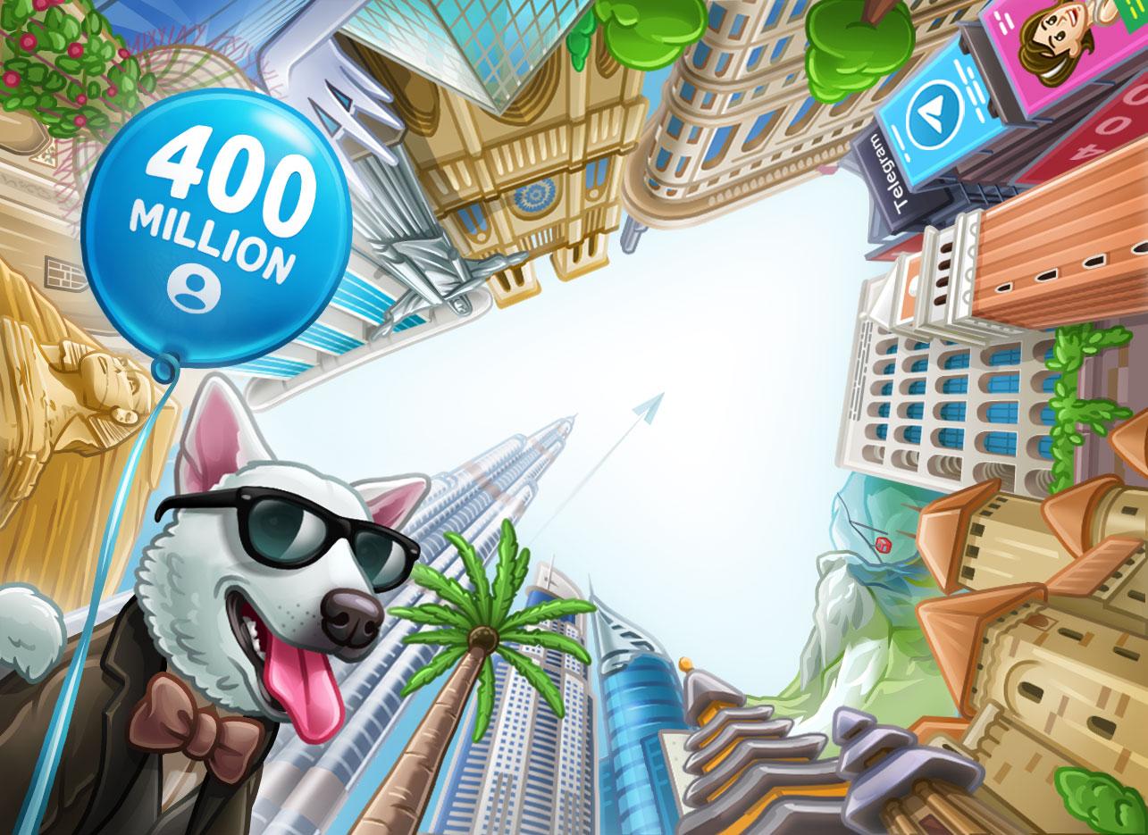 Telegram досяг позначки в 400 млн користувачів на місяць