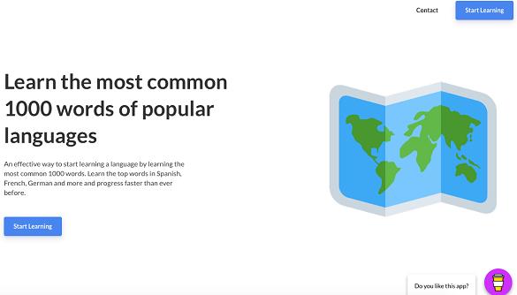 Створили безкоштовний сайт для вивчення 6 мов по тисячі найбільш популярних слів