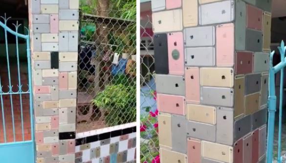 В'єтнамець побудував паркан із корпусів старих айфонів