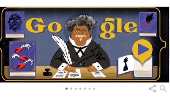 Google присвятив новий дудл роману Олександра Дюма «Граф Монте-Крісто»