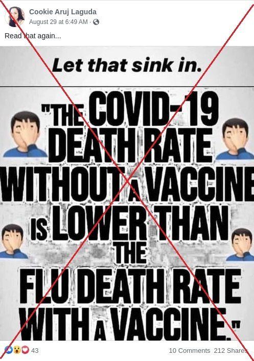 У соцмережах поширюють фейк, що від грипу помирають більше, ніж від коронавірусу
