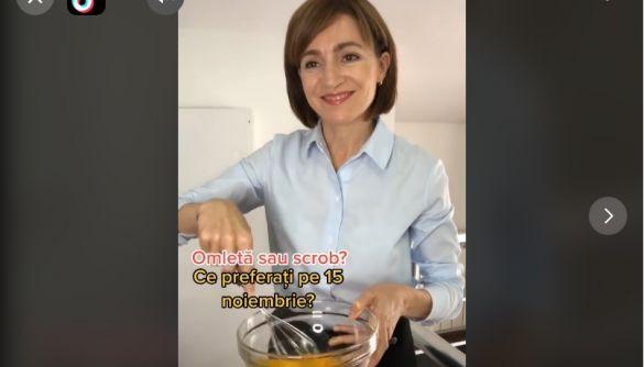 Новообрана президентка Молдови Санду продовжить записувати тіктоки